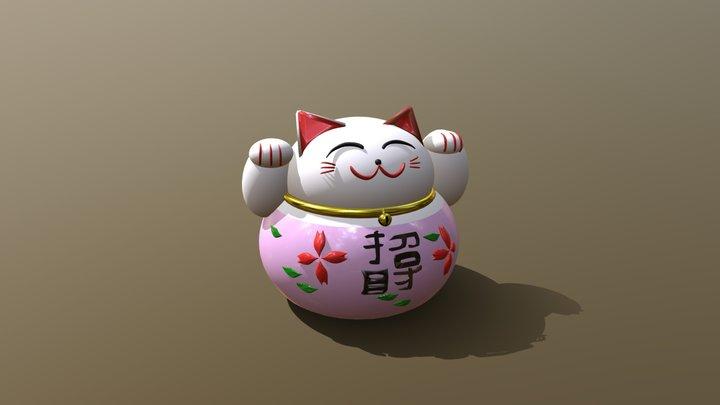 ceramic kitten 3D Model