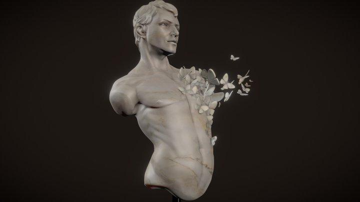 SculptJanuary18 // Male Torso 3D Model