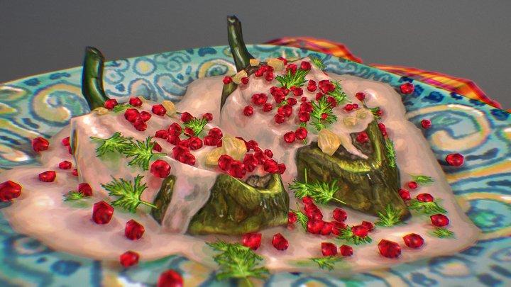 Chiles en Nogada 3D Model