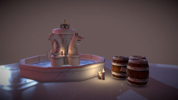 Village Assets Fountain 3D Model