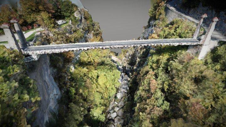 3D Bridge Photogrammetry Pont de l'Abime Annecy 3D Model