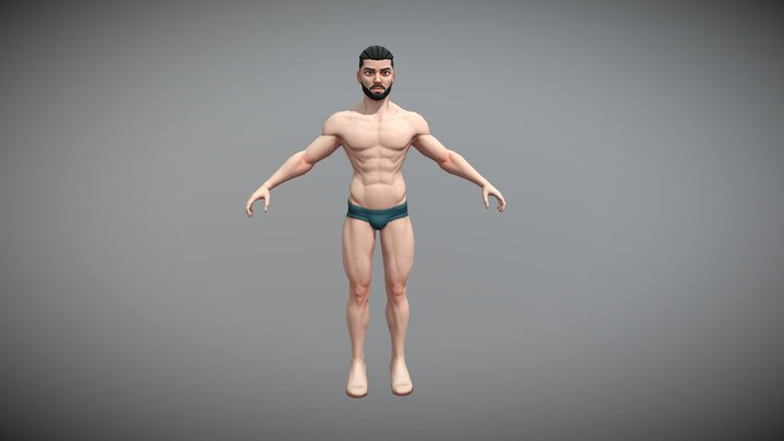 Stylized Male Game Character -Game Ready -Kiroh 3D Model
