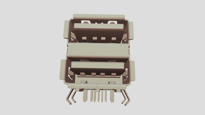 2 ports USB parallèle 3D Model