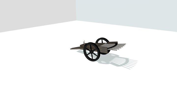 Machine Gun Leonardo Da Vinci 3D Model