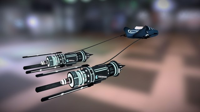 Star Wars -TRON style Anakin Skywalker Pod Racer 3D Model