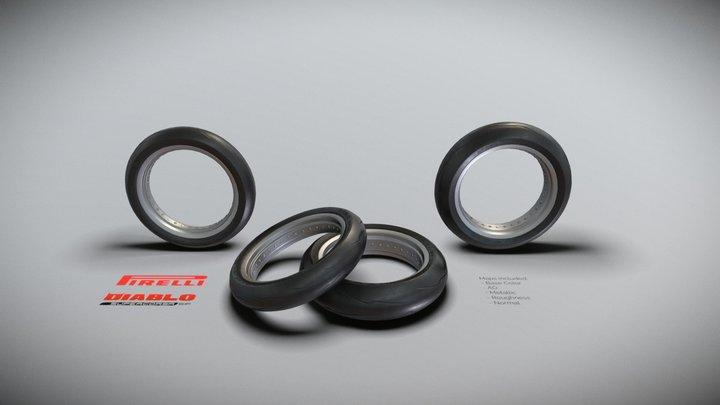 Pirelli Diablo Supercorsa SP V2 Motorcycle Tire 3D Model