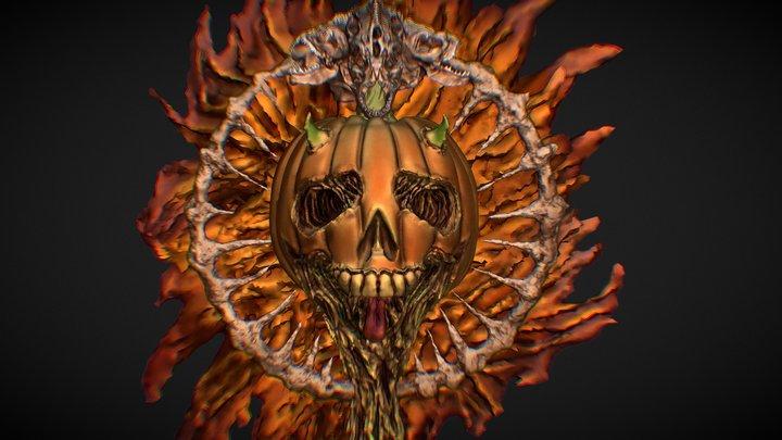 Metal Pumpkin 3D Model