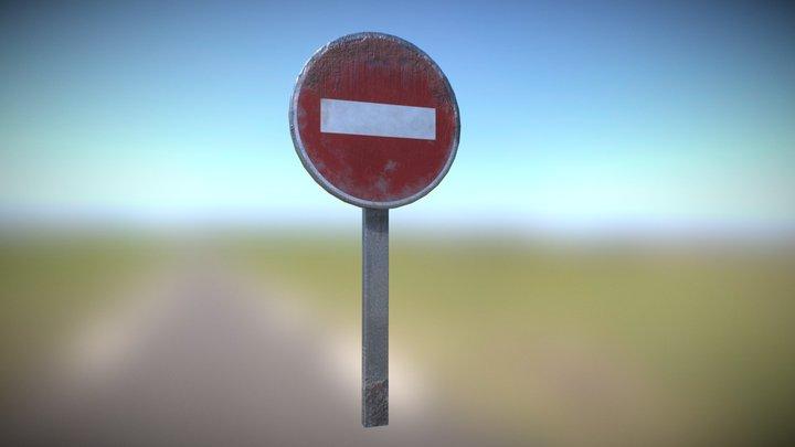 Road sign - No entry 3D Model