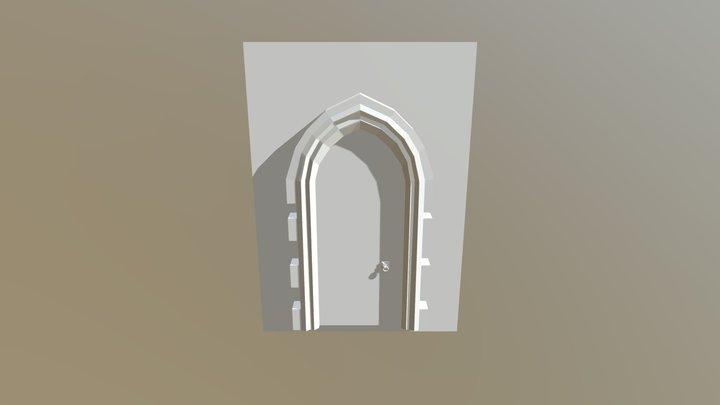 Gothic Door 3D Model