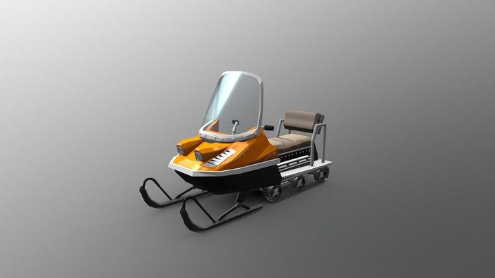 HCR2 Snowmobile 3D Model