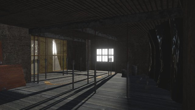 Abandoned building site 3D Model