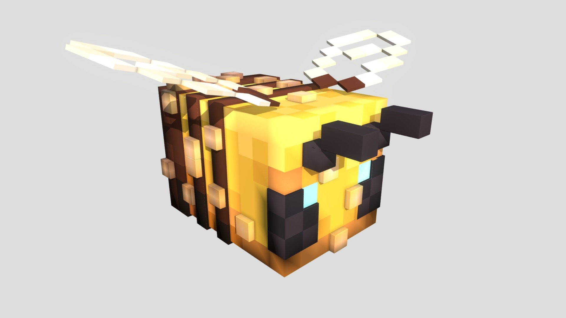 Minecraft Bee with polls 3D model by Boxhead3d ( Boxhead3d