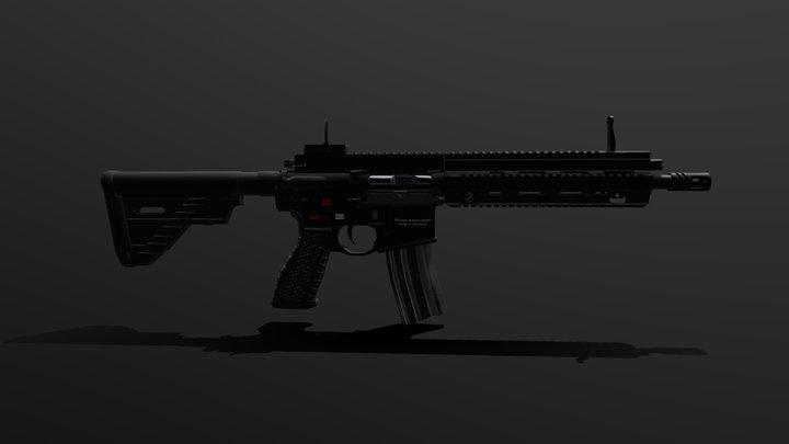 HK 416 3D Model