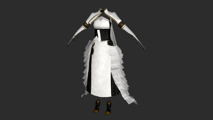 Kingsglaive Lunafreya's dress 3D Model