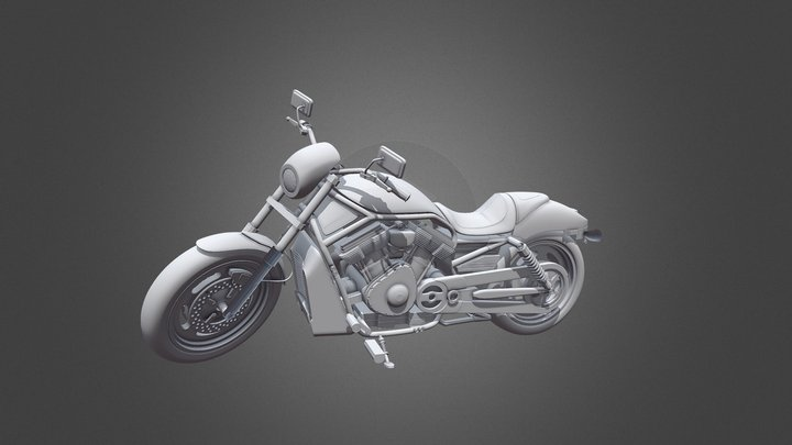 Bike High Poly 3D Model