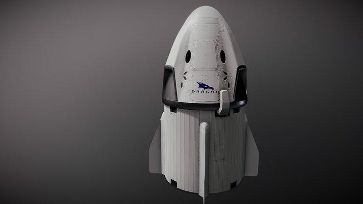 SpaceX Crew Dragon 3D Model