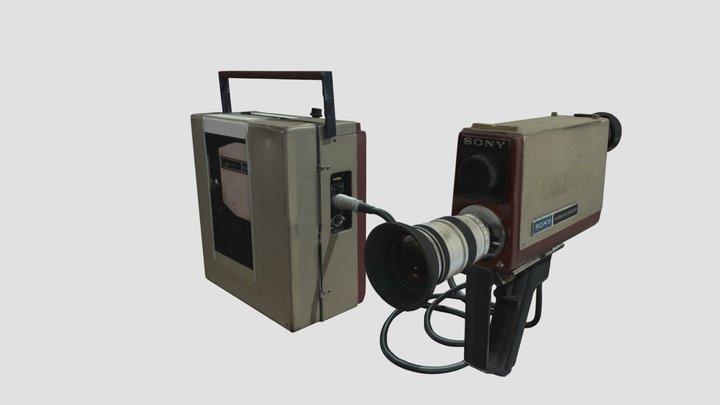 Caméra Sony Portapak Video Rover II AV-3400 3D Model