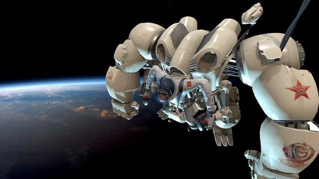 Space Worker 3D Model