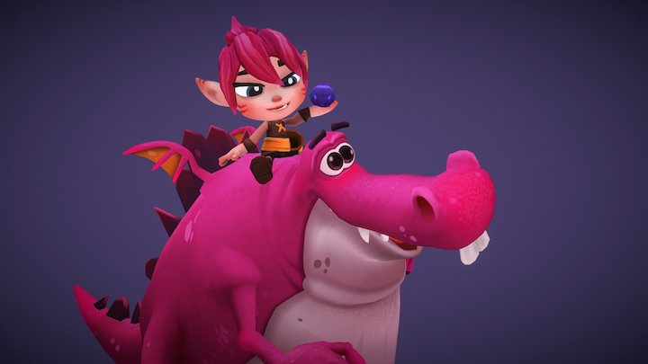 Lily & Snout Characters 3D Model
