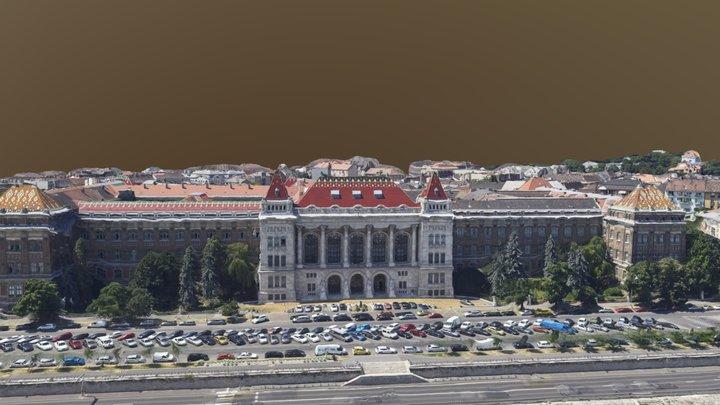 Homlokzat a Duna felől 3D Model