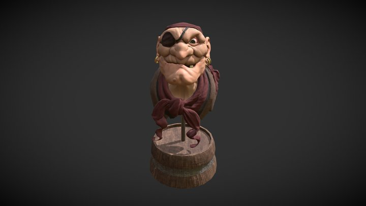 Pirate Bust 3D Model