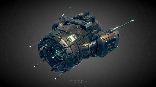 Starfall Tactics — Bruno Deprived cruiser 3D Model