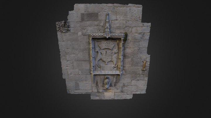 'Ape & Child' Gargoyle. Lynch's Castle Galway. 3D Model