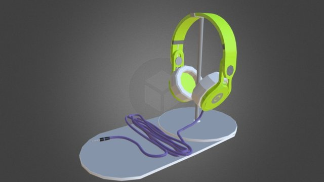 Beats Headphone Model 3D Model