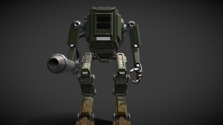 Mech - WW2 - 7. USA-Division 3D Model