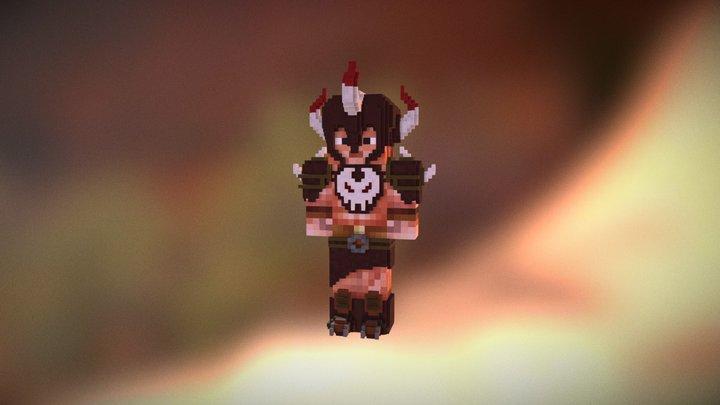 Minecraft Barbarian 3D Model