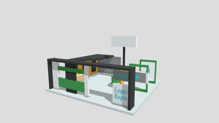 Modelo Stand Corporativo (2) Expo Virtual CDI 3D Model