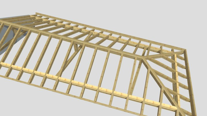 3d casa rural fase primera 3D Model
