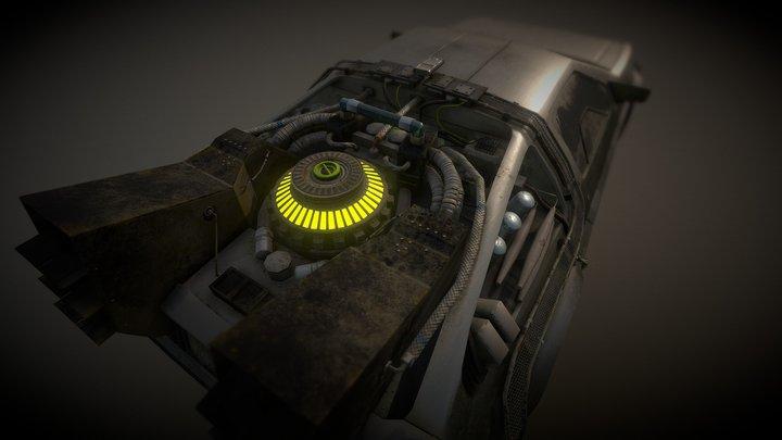 DeLorean DMC-12 Back to the future version 3D Model