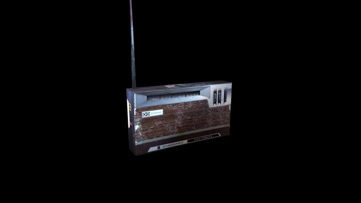 Đài radio cũ 3D Model