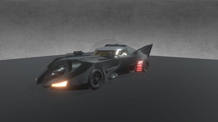 1989 Batmobile 3D Model