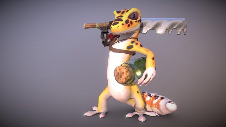 Gecko Warrior 3D Model