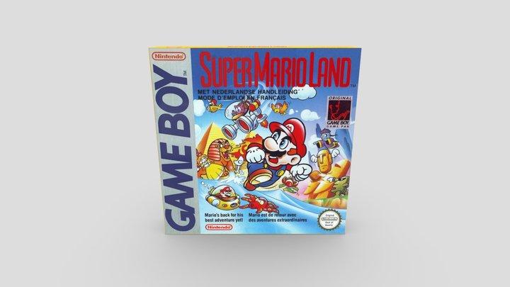 GAME BOY SUPER MARIO LAND BOX 3D Model