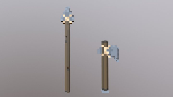 [Primitive Armory] Stone Weapons 3D Model