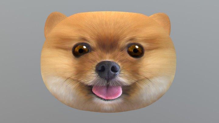 Pom Puppy Pillow 3D Model