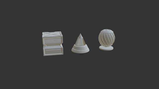 CGcookie - modeling fundamentals exercise 01 3D Model