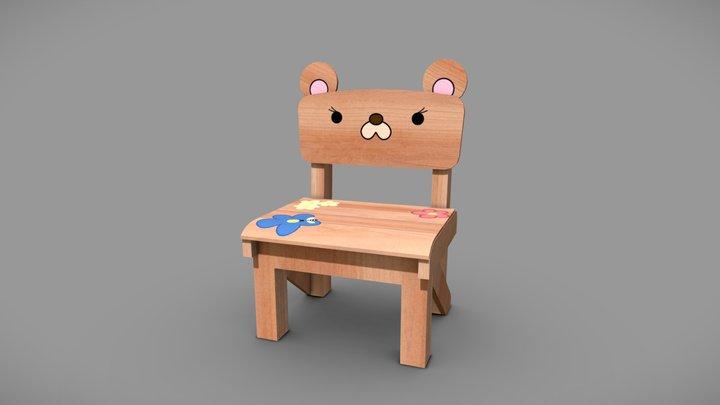 Cute chair (Gokushufudou) 3D Model