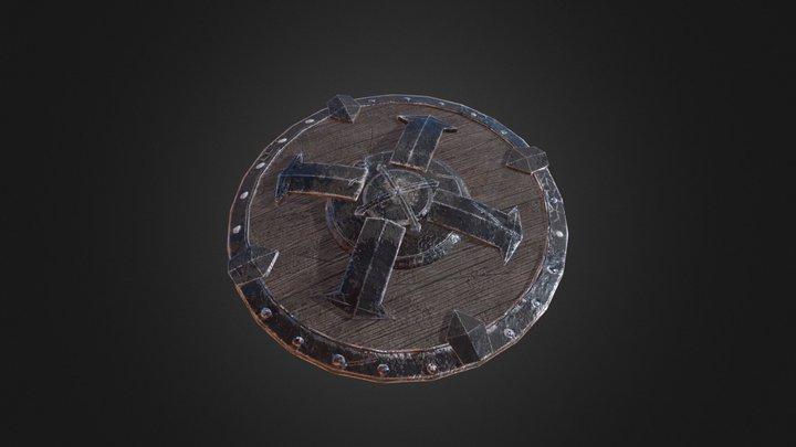TES: Blades Iron Shield 3D Model