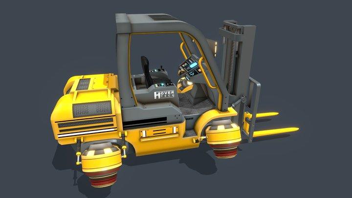 Sci Fi Hover Forklift 3D Model