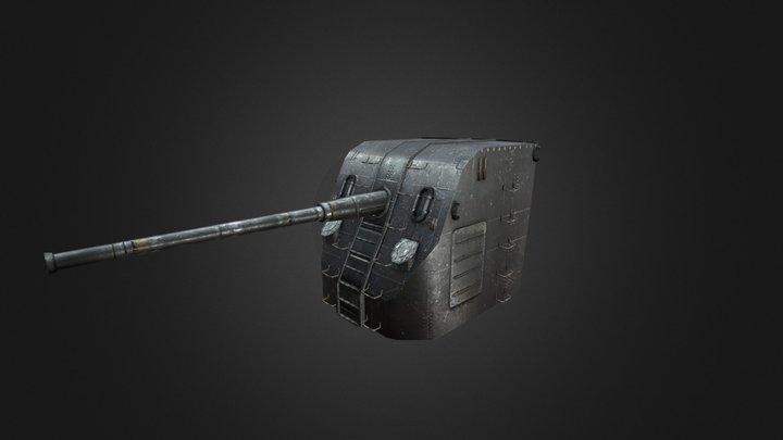 Gun Mount B34 3D Model