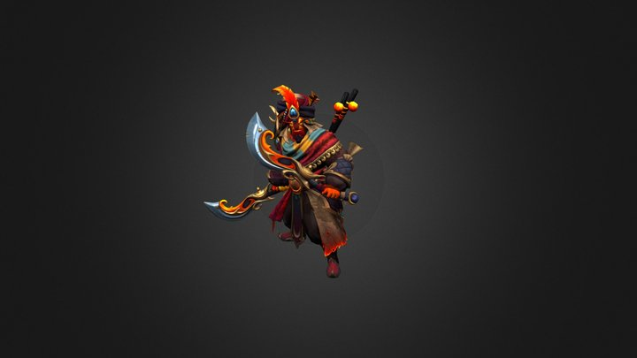 Сosmetics item set for Ember Spirit(Dota2) 3D Model