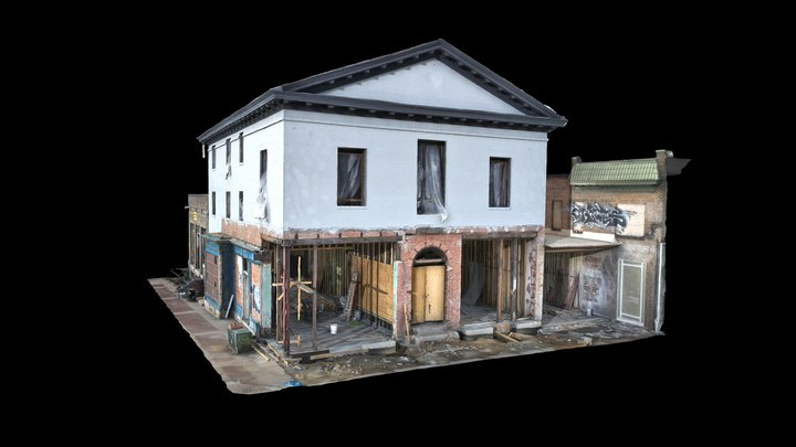 Old Waverly Town Hall v2 3D Model