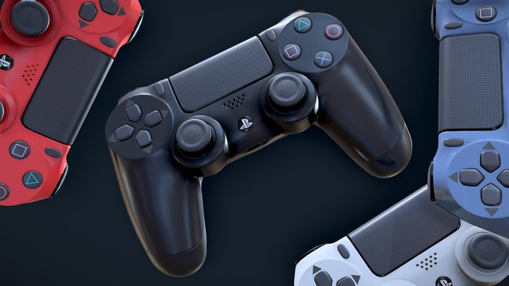 Sony PS4 Controller - Playstation DualShock 4 3D Model