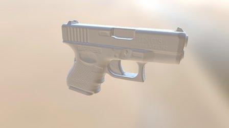 Glock Blue Gun 3D Model