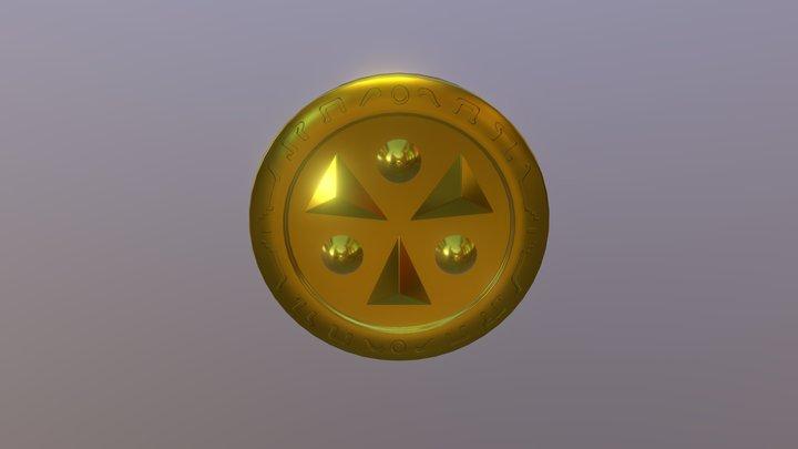 Legend of Zelda-OoT: Light Medallion 3D Model
