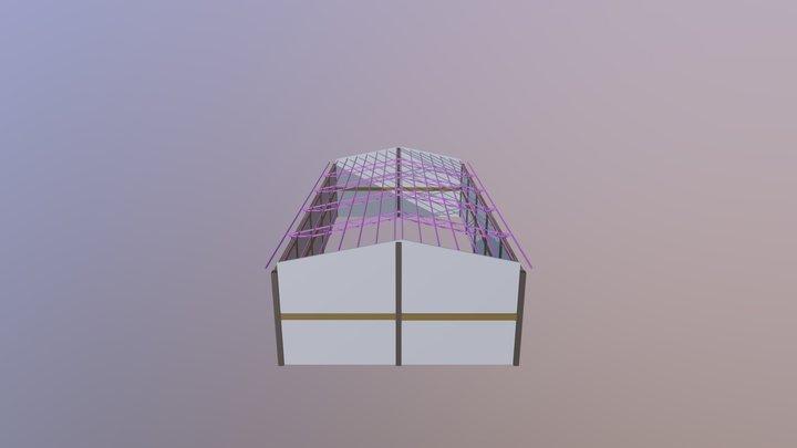 Estrutura, Metálica Mista 3D Model
